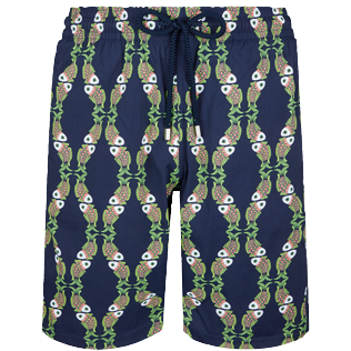 Men Long classic Printed - Men Long Stretch Swimwear Sweet Fishes, Navy front