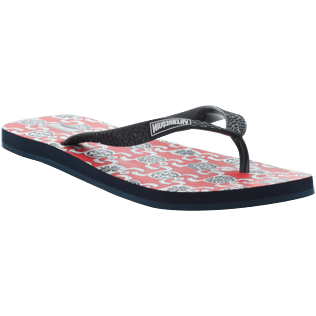 Others Printed - Flip Flop, Poppy red back