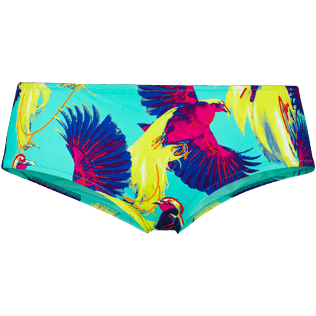 Women Classic brief Printed - Women Covering Bikini Bottom Birds of Paradise, Veronese green front