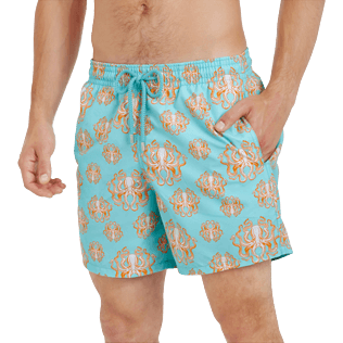 Men Classic Printed - Men Swimwear Poulpes, Lagoon supp1