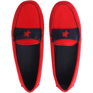 Damen Andere Uni - Superweiche Daim Wildlederloafer für Damen, Red polish front