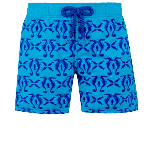 Boys Others Printed - Boys Swimwear Flocked Hippocampes, Swimming pool front