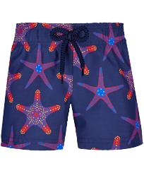 Girls Others Printed - Girls Swim Short Starfish Dance, Sapphire front
