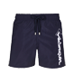 Men Classic Embroidered - Men Swim Trunks Placed Embroidery Le Vilebrequin, Navy front