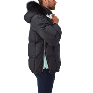 Men Vests AND Jackets Printed - Ski Resort Quilted down jacket, Navy supp1