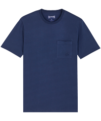Men Others Solid - Men Organic Cotton T-Shirt Solid, Navy front