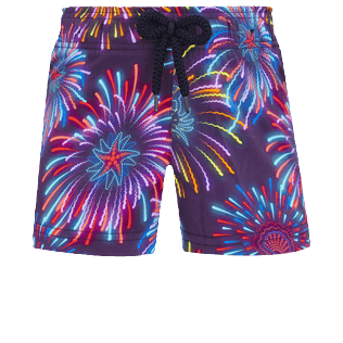 Girls Others Printed - Girls Swim Short Fireworks, Navy front