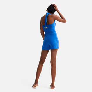 Women Others Solid - Women terry Playsuit - Vilebrequin x JCC+ - Limited Edition, Sea blue backworn