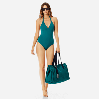 Women One piece Solid - Women shaping one piece swimsuit Solid, Pine wood supp2