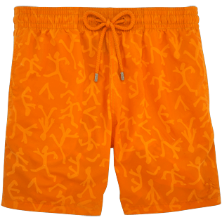 Men Classic / Moorea Printed - Water-reactive Danse du feu Swim shorts, Papaya supp4