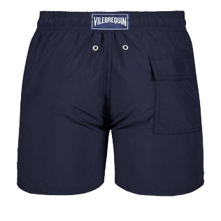 Men Classic Solid - Men Swimwear Solid, Navy back