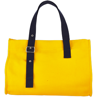 Bags Solid - Large Solid Beach Bag, Turmeric back