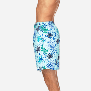 Men Long Printed - Long Cut Swim shorts, Lagoon supp3