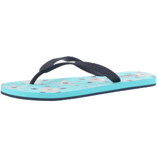 Men Others Printed - Men Flip Flops Starfish Dance, Lazulii blue back