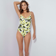 Women Underwire Printed - Women One piece Swimsuit Lemons, White supp1