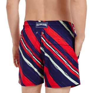 Homme CLASSIQUE STRETCH Imprimé - Maillot de bain Homme Stretch Diagonal Stripes, Prune supp1