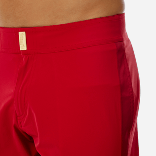 Men Flat belts Solid - Men Flat Belt Stretch swimtrunks Tuxedo, Red polish supp1