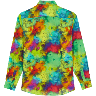 Others Printed - Unisex Cotton Voile Light Shirt Holi Party, Batik blue back