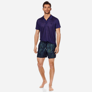 Men Stretch classic Printed - Men Swim Trunks Stretch Prince de Galles, Navy supp2
