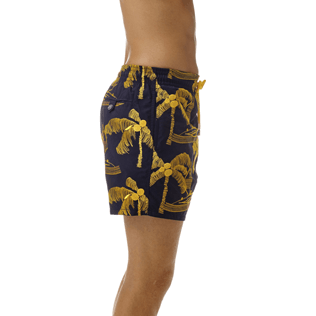 Men Classic / Moorea Embroidered - All Over Palm Trees Embroidery Swimwear, Navy supp1