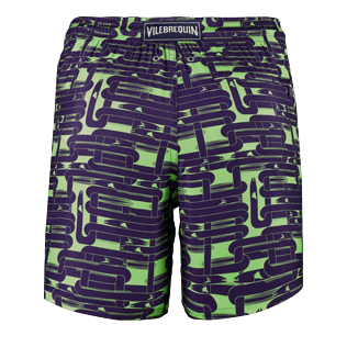 Men Ultra-light classique Printed - Men Lightweight and Packable Swimtrunks Eels Knitting, Wasabi back