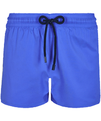 Men Short classic Solid - Men Swim Trunks Short and Fitted Stretch Solid, Sea blue front