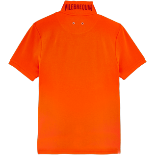 Men Others Solid - Men Cotton Pique Polo Shirt Solid, Clementine back