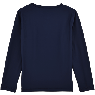 049 Solid - Turtles Anti-UV long sleeves T-Shirt, Navy back
