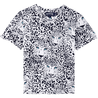 Chicas T-Shirt Estampado - Camiseta de cuello redondo con estampado Snow Tiger, Blanco front