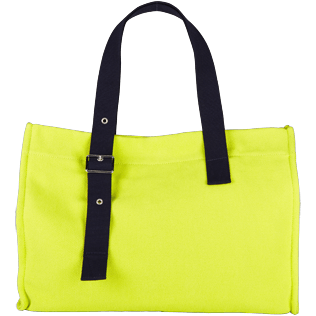 Bags Solid - Large Cotton Beach bag Solid, Chartreuse back