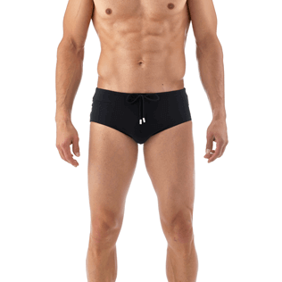 Men Short, Fitted Solid - Tuxedo Tuxedo swim briefs, Black supp1