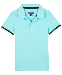 Boys Others Solid - Boys Cotton Pique Polo Shirt Solid, Lagoon front