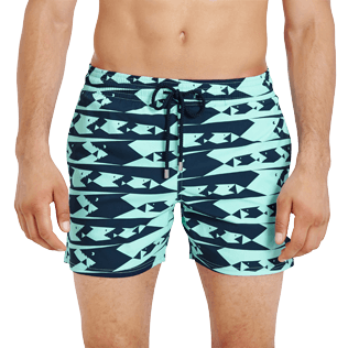 Men Stretch classic Printed - Men Swim Trunks Stretch Attrape moi si tu peux - WEB EXCLUSIVE, Lagoon supp1