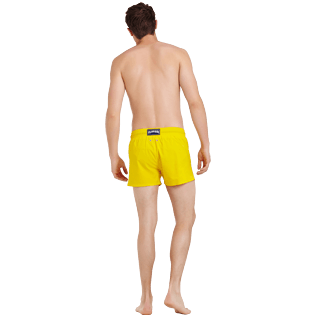 Men Short classic Solid - Men Swimwear Short and Fitted Stretch Solid, Buttercup yellow backworn