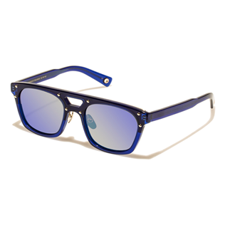 Others Solid - Unisex Sunglasses Blue Mirror, Royal blue back