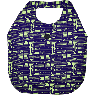 Bags Printed - Oversize Lightweight Foldable Bag Eels Knitting, Wasabi back