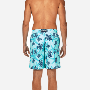 Men Long classic Printed - Starlettes & Turtles Long Cut Swim shorts, Lagoon supp2
