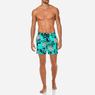 Men Classic Printed - Octopussy et Coquillages Swim shorts, Navy frontworn