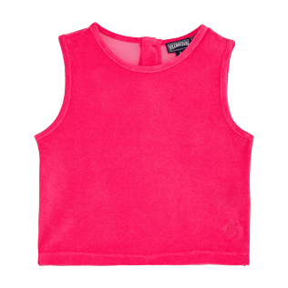 Girls Others Solid - Girls Tank Top in Terry Cloth Solid, Shocking pink front