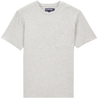 Men Tee-Shirts Solid - Men Pima Cotton Jersey T-shirt Solid, Heather grey front