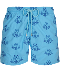 Men Classic Embroidered - Men Swim Trunks Embroidered Pranayama - Limited Edition, Jaipuy front