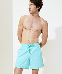 Men Classic Solid - Men Swimwear Solid, Lazulii blue frontworn