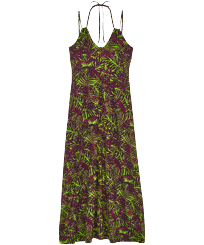 Women Others Printed - Women Long fluid Dress Madrague, Grass green front
