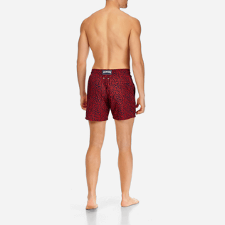 Men Classic / Moorea Printed - Men Lightweight and Packable Swimtrunks Mini Fish, Navy backworn