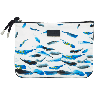 Bags Printed - Blue Breath Zipped case, White front