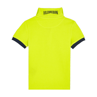 Boys Others Solid - Cotton Boys Polo Shirt Solid, Chartreuse back