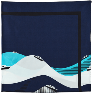 Others Printed - Silk Scarf Ostend, Navy back
