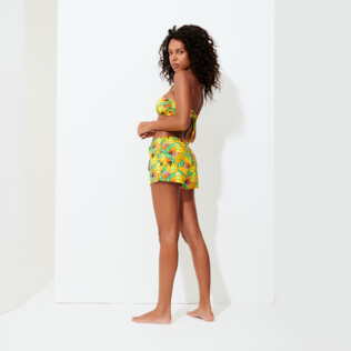 Donna Altri Stampato - Shorts da mare donna Go Bananas, Curry backworn