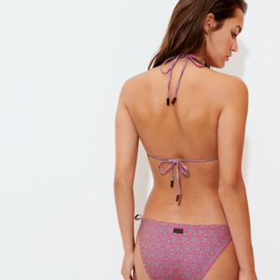 Women Triangle Printed - Women Triangle Bikini Top Indian Ceramic, Pink berries backworn
