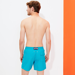 Men Classic Magic - Men Swim Trunks Bengale Tigers Water-reactive, Light azure backworn